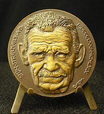 Médaille Stijn Streuvels écrivain belge par Baron Heule (Courtrai) Medal 铜牌