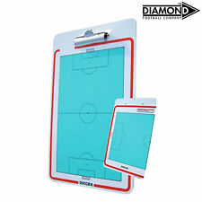 NEW Diamond Football Clip Board - Reversible Coach Manager Tactic Board with Pen
