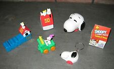 Snoopy & the Peanuts Gang 6 different Toys / Puzzle - Woodstock Charlie Brown