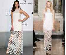 EMILIO PUCCI -UK 8 -USA 6 -I 40 BEADED WHITE LONG MAXI-PROM-WEDDING-SCUBA DRESS