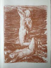 CH SHANNON gravure lithographie La marée montante marine