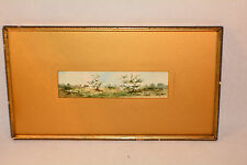 J. C. Amie 19th Century Watercolor in Period Frame