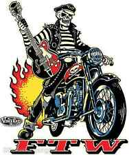Rockabilly Biker FTW Sticker Decal Art Vince Ray VR45 Roth Like