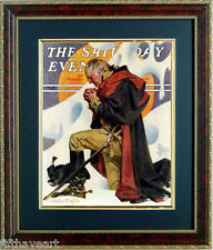 Washington Prayer at Valley Forge Saturday Evening Post  Quality Frame 17x20