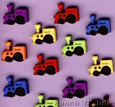SEW CUTE TRAINS - Steam Engine Boy Toy Novelty Dress It Up Sewing Craft Buttons