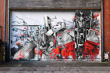 street art print  transformers optimus CANVAS  andy baker 80cm x 50cm