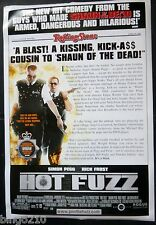 HOT FUZZ 2007 1 SHEET POSTER ROLLING STONE REVIEW SIMON PEGG NICK FROST  POLICE