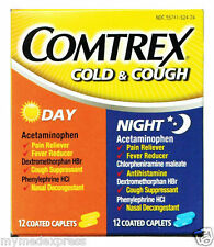 Comtrex Day/Night Cold and Cough Caplets 24ct 849648085242