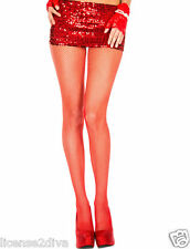 "WOMEN'S LADIES FASHION FISHNET PANTY HOSE! RED FISHNET! 5'5""-10"" 90-165 LBS! NEW"