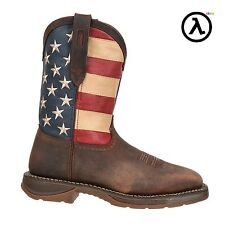 REBEL BY DURANGO STEEL TOE FLAG WESTERN BOOTS DB020 * ALL SIZES M/W 8-13
