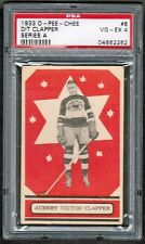 "1933 34 OPC O PEE CHEE #8 AUBREY VICTOR ""DIT"" CLAPPER ROOKIE RC PSA 4"