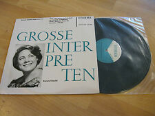 LP Grosse Interpreten Renata Tebaldi singt Arien Aida ETERNA DDR Vinyl 820486
