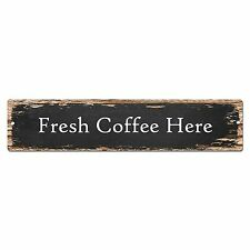 SP0117 Fresh Coffee Here Street Plate Sign Bar Store Cafe Kitchen Chic Decor