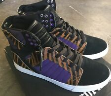 Supra Skytop Black Purple Tiger White Sz 11 NIB