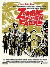"Zombie Flesh Eaters 16"" x 12"" Reproduction Movie Poster Photo"
