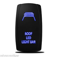 Car Roof LED Light Laser Rocker Switch Backlit Blue 5-Pin On-Off Control Offroad
