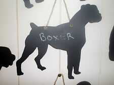 BOXER DOG SHAPED chalkboard blackboard birthday Christmas gift pet pup a