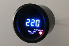"2"" Digital Water Temperature Meter Blue LED Black Smoke Lens 104 - 280 F"