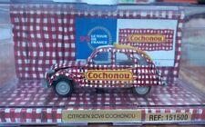 CITROEN 2CV COCHONOU TOUR DE FRANCE NOREV CRISTAL 2 CV 1/43 PROMOTIONNEL RARE