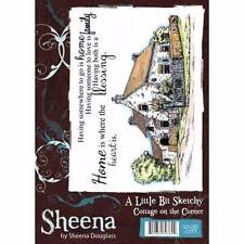 Sheena Douglass A Little Bit Sketchy COTTAGE ON THE CORNER A6 Rubber Stamp Set