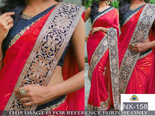 DESIGNER SILK GEORGETTE SAREE WITH GRACEFUL BORDER AND BLOUSE PIECE