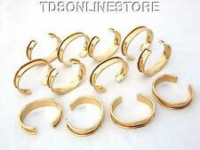 Gold Plated Channeled Bracelet Cuff Blanks 1/2 Inch Package Of 12
