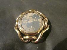 Beautiful Victorian Rare Quality Early Photo Swivel Brooch