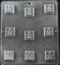 Fleur de Lis square Truffle Chocolate Candy Mold Candy Making  194 NEW