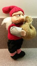 VINTAGE TREGGARDENS JULEHUS DROBAK NORWAY ELF GNOME TROLL CLOTH DOLL