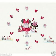DISNEY Minnie Mouse Muro Orologi Tick Tock Teller Vinile Adesivi da parete, Home Decor