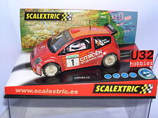 SCALEXTRIC CITROEN C2 JWRC  #1 M.FUSTER-V.MEDINA  EFECTO BARRO ONLY IN SETS  MB