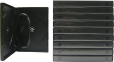 (10) DV3R22WTBK Triple Three Disc 3 DVD Boxes Cases Black Multi 22MM With Tray