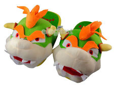 "Nintendo Super Mario Brothers Bros Bowser Party 11"" Adult Plush Slipper 1 Pair"