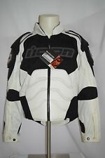 Men's Icon Timax 2 Nylon jacket White Black Motorcycle Jacket 2820-0442 Size L