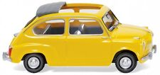 1/87 Wiking Fiat 600 amarillo 0099 05