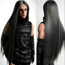 "BJD Doll Wig 8-9""1/3 SD DZ DOD LUTS Smoke Gray Long Parted In The Middle"