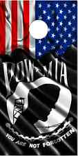 POW MIA American Flag LAMINATED Cornhole Wrap Bag Toss Skin Decal