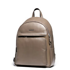Quality Mens Genuine Leather Travel Backpack Rucksack Tablet Laptop Book Bag