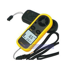 Mini Digital Handheld Air Velocity Meter Wind Speed Gauge Anemometer Thermometer