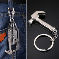 1PC Funny Car Keyring Creative Metal Keychain Personality Claw Hammer Pendant CN