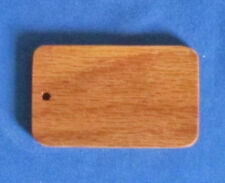 Large Rounded Rectangle Oak Keychain Blanks - Lot of 50 - Made In The USA