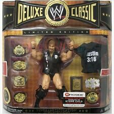 WWE STONE COLD STEVE AUSTIN DELUXE CLASSIC LIMITED EDITION FIGURE WITH BELT ACCE