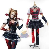 Batman Dark Knight Harley Quinn Cosplay Costume Outfit Party Dress Arkham Asylum