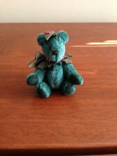 Miniature Teddy Bear Holly Christmas By Kristie Bonner Hunny Haycorns & Thistles