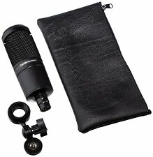 Audio Technica*AT2020 Bundle*Condenser Studio Microphone+PopFilter+Mic Cable NEW
