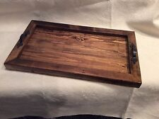 """Rustic Designer Reclaimed Distressed or Pallet Wood Tray 12"""" x 21"""" RT202"""