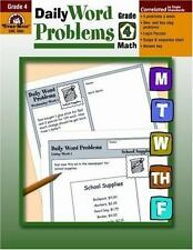 Daily Word Problems, Grade 4 by Evan-Moor (2001, Paperback)