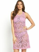Sexy pink crochet Beach dress - PLUS SIZE 20 - BNWT beach cover up/summer