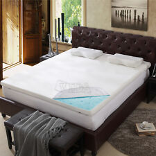 """3"""" inch Full Cool Gel Memory Foam Mattress Bed topper pad with cover"""