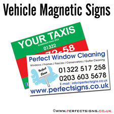 Magnetic Vehicle Signs Digitally Printed Car Magnet Full Colour 900mmX300mm X 2